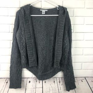 Cabi open cardigan cable knit long sleeve
